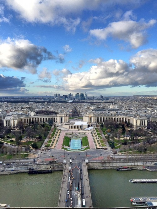 Paris from the top of Eiffel Tower